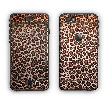 The Vibrant Cheetah Animal Print V3 Apple iPhone 6 LifeProof Nuud Case Skin Set