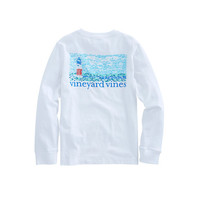 Boys Long-Sleeve Fish Lighthouse Pocket T-Shirt