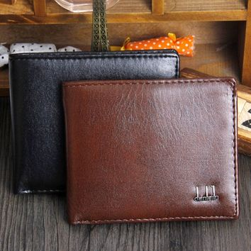 Men's Leather Business Wallet Pocket Card Clutch Bifold Money Slim Purse Black