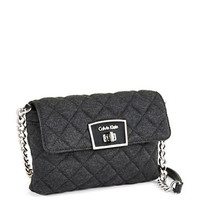 Calvin Klein Quilted Ponte Crossbody Bag