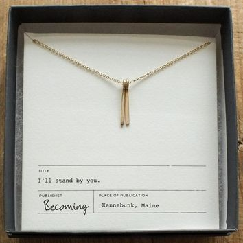 I'll Stand By You Mixed Metals Necklace