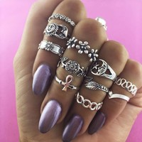 Shiny Jewelry Gift New Arrival Stylish Vintage Floral Twisted Ring [11762573199]