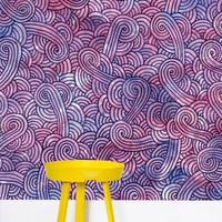 'Purple swirls doodles' Wallpaper by Savousepate on miPic
