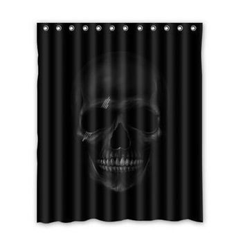 Hot Sale Custom Dark Skull Best Nice Fashion Home Living Waterproof Bathroom Decor Shower Curtain 168x183cm FREE SHIPPING U08-13