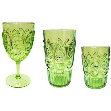 Fleur Indoor/ Outdoor Drinkware S/6 | Green