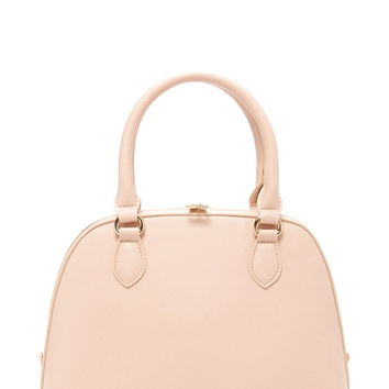 Faux Leather Satchel | Forever 21 - 1000170541