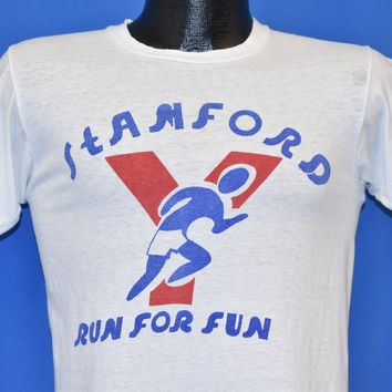 60s Stamford Run for Fun YMCA Connecticut t-shirt Small