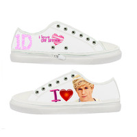 One Direction I Love Niall Horan woman canvas shoes - Size : US 5 6 7 8 9 EUR 36 37 38 39 40