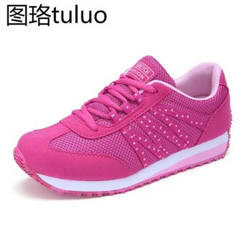 Women Tennis Shoes Outdoor Sports Breathable Women's Sneakers Fitness Air Mesh Althletes Wedge Sneakers Track Shoes