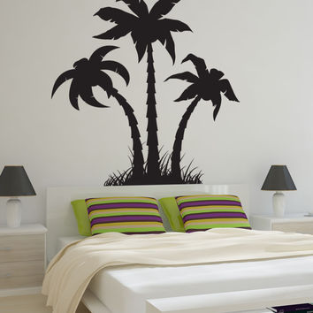 Vinyl Wall Decal Sticker Palm Trees Silhouette #1219