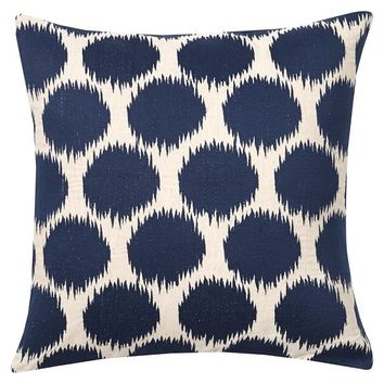 Ikat Dot Embroidered Pillow Covers
