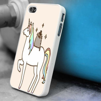 Pusheen Cat With Unicorn iPhone 5S case,iphone 5 case,iPhone 5C case,iphone 4 case,iphone 4S case,samsung s4 case, Samsung s3 case