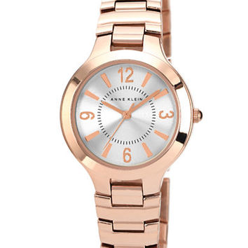 Anne Klein Ladies Rose Gold Tone Bracelet Watch