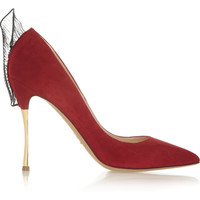 Nicholas Kirkwood Ruffle-trimmed suede pumps – 50% at THE OUTNET.COM