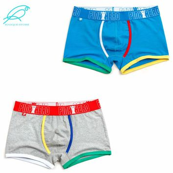 Pink Hero Underwear: Mens's Multi-Color Boxer Brief Trunks - 2 Pack