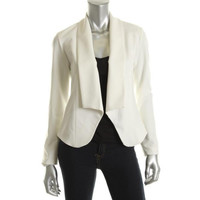 Campaigne Womens Lined Long Sleeves Open-Front Blazer