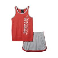 Jordan Mesh Two-Piece Infant/Toddler Girls' Set, by Nike Size 12M (Red)