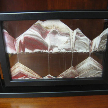Limited Edition Moving Sand Picture Black Diamond in Window