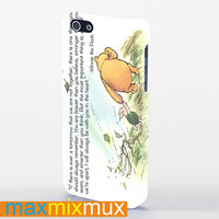 Winnie The Pooh Quote iPhone 4/4S, 5/5S, 5C Series Full Wrap Case