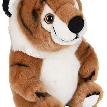 "Wildlife Tree 9"" Stuffed Tiger Plush Belly Buddies Animal Heirloom Collection"
