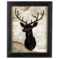 Deer on Newspaper Framed Wall Art | Shop Hobby Lobby