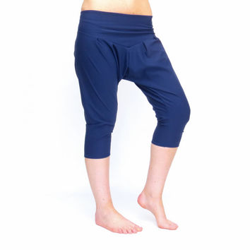Harem pants aladdin pants drop crotch pants capri yoga pants