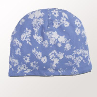 Baby Organic Hat - Chambray Floral