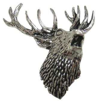 Right Facing Red Stag Deer Head Magnet