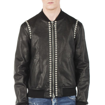 Studded Leather Bomber