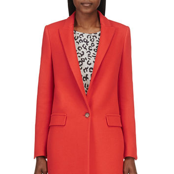 Stella Mccartney Vermillion Wool Minimalist Coat