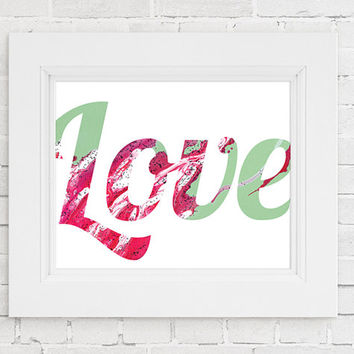 LOVE Print. Abstract Love Print. Home wall art, Apartment wall art, Anniversary gift, Valentines day gift, Nursery Prints, Nursery Wall Art
