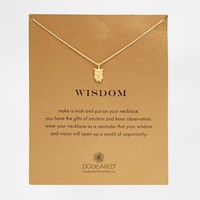 Dogeared Gold Plated Wisdom Owl Necklace