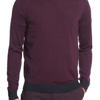 Men's Ted Baker London 'Lewcat' Crewneck Merino Wool Sweater,