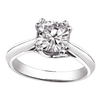 1 carat cushion diamond solitaire engagement ring