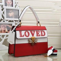 DCCKH3L Gucci' Women Fashion Personality Multicolor Letter Little Bee Lock Single Shoulder Messenger Bag Handbag