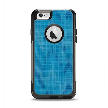The Woven Blue Sharp Chevron Pattern V3 Apple iPhone 6 Otterbox Commuter Case Skin Set
