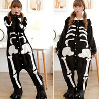 Kawaii pajamas skeleton cosplay unisex adult Onesuit jumpsuits costume