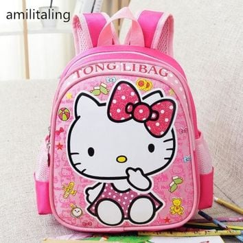 New Cute Hello kitty Girl Backpack Bag Purse yey-0715 Kids