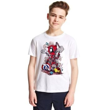 Deadpool Dead pool Taco  Child T-shirts for Girls Boys 2018 Summer Costume X-men Marvel T-shirt Cotton Boys T Shirt Baby Clothes Anime Top Tees AT_70_6