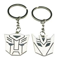 Chuzhao Wu Metal Nickel Key Ring Key Chain Transformers Shape For Lovers Sweethearts Valentine's Day Gift(Pack Of 2)