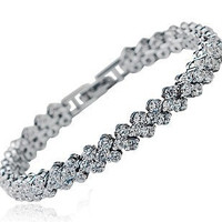 Sterling Silver & Bangle Bracelet Women Fashion Jewelry