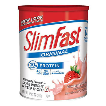 SLIM FAST ORIGINAL, MEAL REPLACEMENT SHAKE MIX, STRAWBERRIES AND CREAM, 12.83 OUNCE