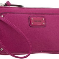 Nine West Double Vision E/W Wristlet,Hot Magenta,One Size