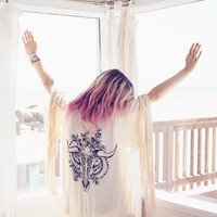 Indian Summer Tassel Kimono - Oyster   Spell & the Gypsy Collective