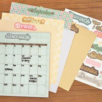 Magnetic Calendar Dry Erase Monthly Calendar Kit Paper Scrapbooking Customizable Calendar