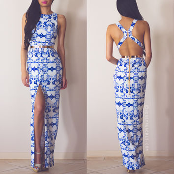 Back In Stock: Enchanted China Blue Maxi Dress