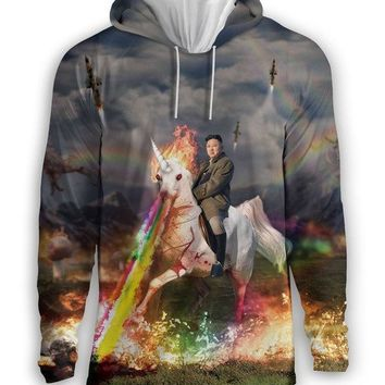 Ready2Ship -  Rainbow Unicorn Kim Jong Un Hoodie
