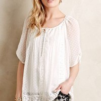 Swiss Dot Peasant Blouse by Meadow Rue Ivory