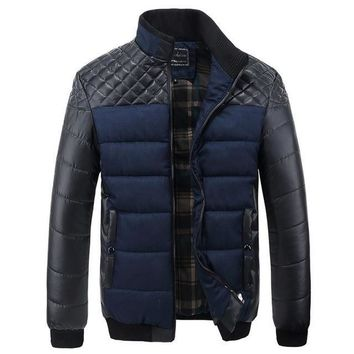 Men's Patchwork Designer Outerwear Winter Fashion Male Jacket