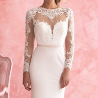 Lace Full Sleeved Gown by Allure Bridals Romance